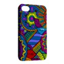 Pop Art Paisley Flowers Ornaments Multicolored Apple iPhone 4/4S Hardshell Case with Stand View2