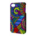 Pop Art Paisley Flowers Ornaments Multicolored Apple iPhone 4/4S Hardshell Case with Stand View3