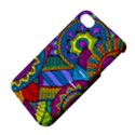 Pop Art Paisley Flowers Ornaments Multicolored Apple iPhone 4/4S Hardshell Case with Stand View4