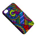 Pop Art Paisley Flowers Ornaments Multicolored Apple iPhone 4/4S Hardshell Case with Stand View5