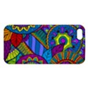 Pop Art Paisley Flowers Ornaments Multicolored Apple iPhone 5 Premium Hardshell Case View1
