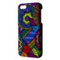 Pop Art Paisley Flowers Ornaments Multicolored Apple iPhone 5 Premium Hardshell Case View3