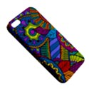 Pop Art Paisley Flowers Ornaments Multicolored Apple iPhone 5 Premium Hardshell Case View5