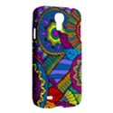 Pop Art Paisley Flowers Ornaments Multicolored Samsung Galaxy S4 I9500/I9505 Hardshell Case View2