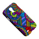Pop Art Paisley Flowers Ornaments Multicolored Samsung Galaxy S4 I9500/I9505 Hardshell Case View5