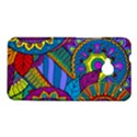 Pop Art Paisley Flowers Ornaments Multicolored HTC One M7 Hardshell Case View1