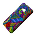 Pop Art Paisley Flowers Ornaments Multicolored HTC One M7 Hardshell Case View4