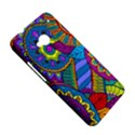 Pop Art Paisley Flowers Ornaments Multicolored HTC One M7 Hardshell Case View5