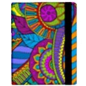 Pop Art Paisley Flowers Ornaments Multicolored Samsung Galaxy Tab 10.1  P7500 Flip Case View3