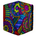 Pop Art Paisley Flowers Ornaments Multicolored Samsung Galaxy Tab 10.1  P7500 Flip Case View4
