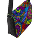 Pop Art Paisley Flowers Ornaments Multicolored Flap Messenger Bag (L)  View2