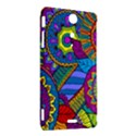 Pop Art Paisley Flowers Ornaments Multicolored Sony Xperia TX View2