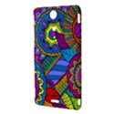 Pop Art Paisley Flowers Ornaments Multicolored Sony Xperia TX View3