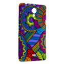 Pop Art Paisley Flowers Ornaments Multicolored Sony Xperia T View2