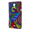 Pop Art Paisley Flowers Ornaments Multicolored Sony Xperia T View3