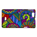 Pop Art Paisley Flowers Ornaments Multicolored Sony Xperia Miro View1