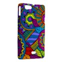 Pop Art Paisley Flowers Ornaments Multicolored Sony Xperia Miro View2
