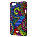 Pop Art Paisley Flowers Ornaments Multicolored Sony Xperia Miro View3