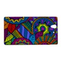 Pop Art Paisley Flowers Ornaments Multicolored Sony Xperia Z View1