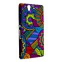 Pop Art Paisley Flowers Ornaments Multicolored Sony Xperia Z View2
