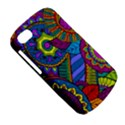 Pop Art Paisley Flowers Ornaments Multicolored BlackBerry Q10 View5