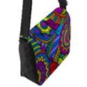 Pop Art Paisley Flowers Ornaments Multicolored Flap Messenger Bag (S) View2