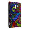 Pop Art Paisley Flowers Ornaments Multicolored Sony Xperia ZL (L35H) View2
