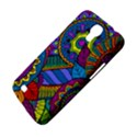 Pop Art Paisley Flowers Ornaments Multicolored Samsung Galaxy Mega 6.3  I9200 Hardshell Case View4