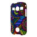 Pop Art Paisley Flowers Ornaments Multicolored Samsung Galaxy S7710 Xcover 2 Hardshell Case View3