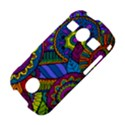 Pop Art Paisley Flowers Ornaments Multicolored Samsung Galaxy S7710 Xcover 2 Hardshell Case View4