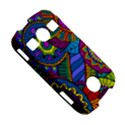 Pop Art Paisley Flowers Ornaments Multicolored Samsung Galaxy S7710 Xcover 2 Hardshell Case View5
