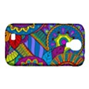 Pop Art Paisley Flowers Ornaments Multicolored Samsung Galaxy S4 Classic Hardshell Case (PC+Silicone) View1