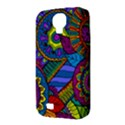 Pop Art Paisley Flowers Ornaments Multicolored Samsung Galaxy S4 Classic Hardshell Case (PC+Silicone) View3
