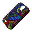 Pop Art Paisley Flowers Ornaments Multicolored Samsung Galaxy S4 Classic Hardshell Case (PC+Silicone) View4