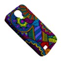 Pop Art Paisley Flowers Ornaments Multicolored Samsung Galaxy S4 Classic Hardshell Case (PC+Silicone) View5