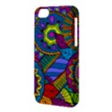 Pop Art Paisley Flowers Ornaments Multicolored Apple iPhone 5C Hardshell Case View3