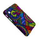 Pop Art Paisley Flowers Ornaments Multicolored Samsung Galaxy Tab 2 (7 ) P3100 Hardshell Case  View5