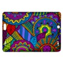 Pop Art Paisley Flowers Ornaments Multicolored Amazon Kindle Fire HD (2013) Hardshell Case View1