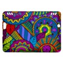 Pop Art Paisley Flowers Ornaments Multicolored Kindle Fire HDX Hardshell Case View1