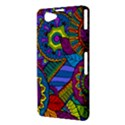 Pop Art Paisley Flowers Ornaments Multicolored Sony Xperia Z1 Compact View3