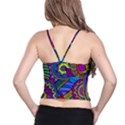 Pop Art Paisley Flowers Ornaments Multicolored Spaghetti Strap Bra Top View2