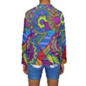 Pop Art Paisley Flowers Ornaments Multicolored Kids  Long Sleeve Swimwear View2