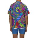 Pop Art Paisley Flowers Ornaments Multicolored Kids  Short Sleeve Swimwear View2