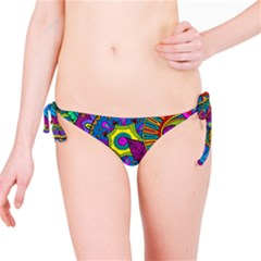 Pop Art Paisley Flowers Ornaments Multicolored Bikini Bottom