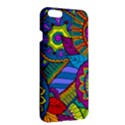 Pop Art Paisley Flowers Ornaments Multicolored Apple iPhone 6 Plus/6S Plus Hardshell Case View3