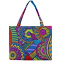 Pop Art Paisley Flowers Ornaments Multicolored Mini Tote Bag View1