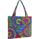 Pop Art Paisley Flowers Ornaments Multicolored Mini Tote Bag View2
