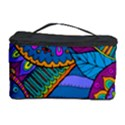Pop Art Paisley Flowers Ornaments Multicolored Cosmetic Storage Case View1