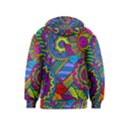 Pop Art Paisley Flowers Ornaments Multicolored Kids  Pullover Hoodie View2