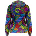 Pop Art Paisley Flowers Ornaments Multicolored Women s Pullover Hoodie View2